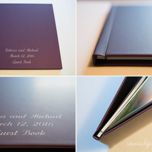 Wedding Guest Book Designed using Engagement Photos {Hamilton, NJ Engagement Photographer}