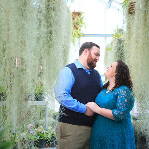 Orchid Conservatory Engagement Session {Hamilton, NJ Portrait Photographer}
