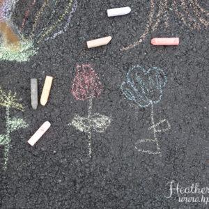 Sidewalk Chalk Family Session {Hamilton, NJ Photographer}