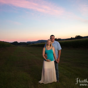 Sunset Maternity Session on West Rupert, Vermont Farm {Granville, NY Photographer}