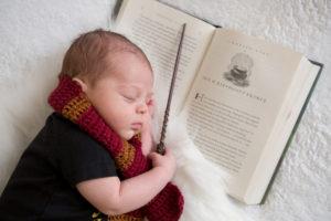 Harry Potter themed Newborn Session {Hamilton, NJ Newborn Photographer}
