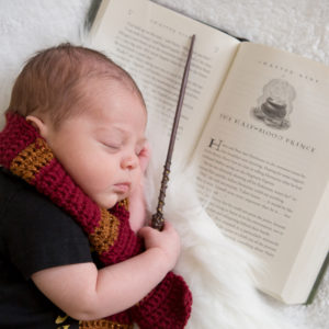 Harry Potter themed Newborn Session {Hamilton, NJ Newborn Photographer}