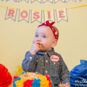 Cake Smash - Rosie the Riveter Themed {NJ Photographer}