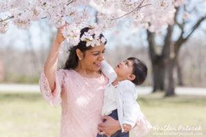 Cherry Blossom Family Portraits {Ewing NJ Photographer}