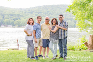 Family Photos at the Lake House
