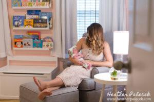 Newborn girl lifestyle session {Ewing, NJ Photographer}